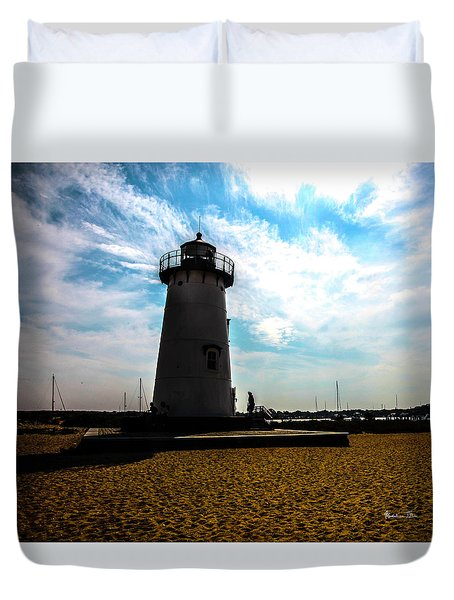 Duvet Cover featuring the photograph Martha's Vineyard Lighthouse - Massachusetts by Madeline Ellis