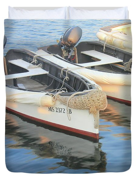 Duvet Cover featuring the photograph Martha's Vinyard Skiffs by Roupen  Baker
