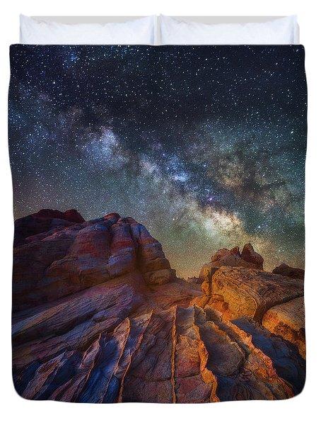 Martian Landscape Duvet Cover