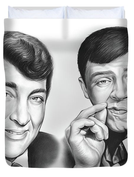 Martin And Lewis Duvet Cover