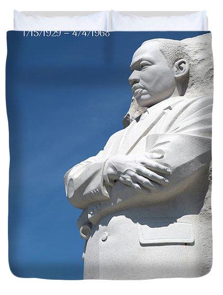 Martin Luther King Jr. Monument Duvet Cover