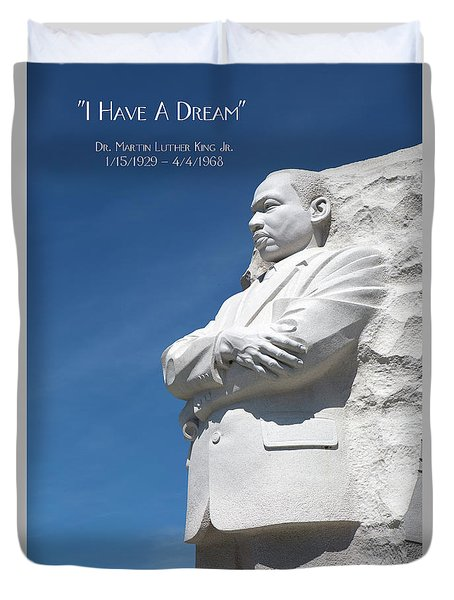 Duvet Cover featuring the photograph Martin Luther King Jr. Monument by Steven Frame