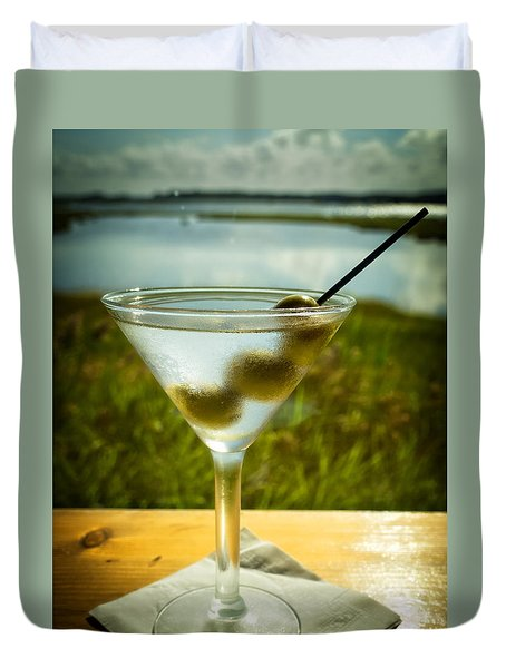 Martini On Fine Summer Day Duvet Cover