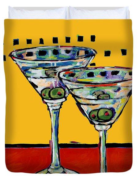 Martini On Yellow Duvet Cover