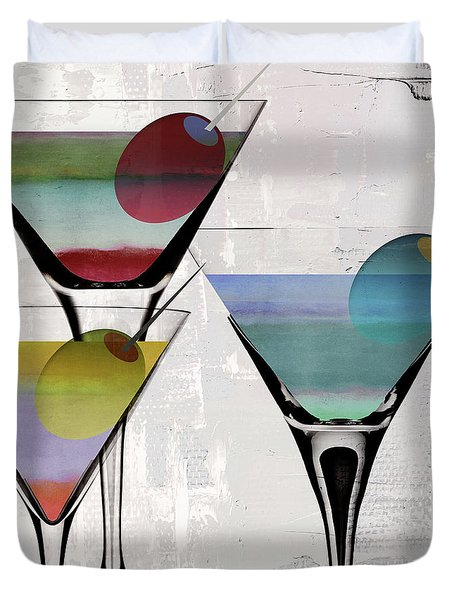 Martini Prism Duvet Cover by Mindy Sommers
