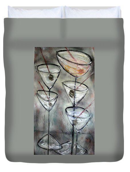 Martini Time Duvet Cover