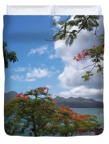 Duvet Cover featuring the photograph Martinique by Mary-Lee Sanders