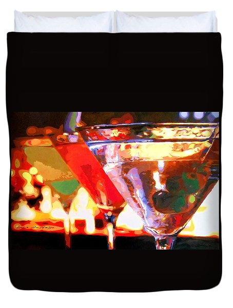 Martinis Duvet Cover