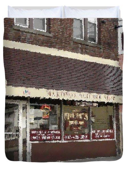 Martino's Butcher Shop Duvet Cover