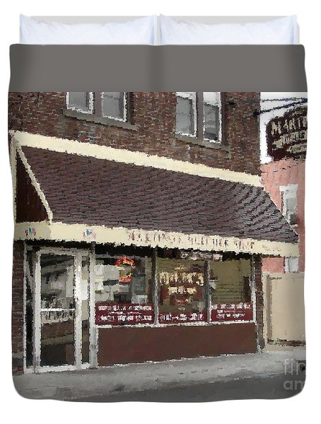 Martino's Butcher Shop Duvet Cover