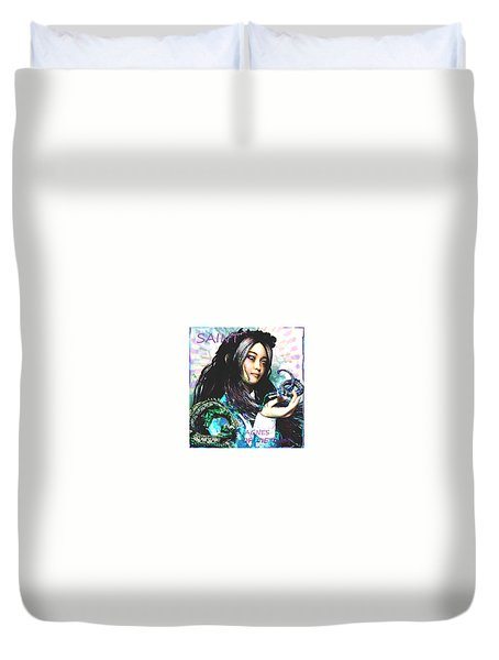 Duvet Cover featuring the painting Martyr Of Vietnam Saint Agnes Le Thi Thanh by Suzanne Silvir