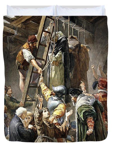 Martyrs Of Gorkum Duvet Cover