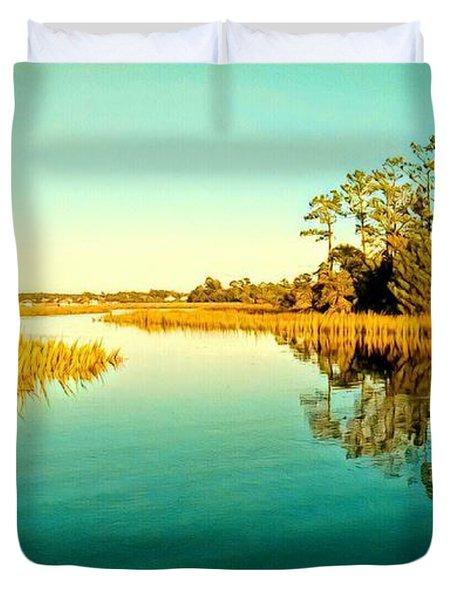 Marvelous Marsh Duvet Cover