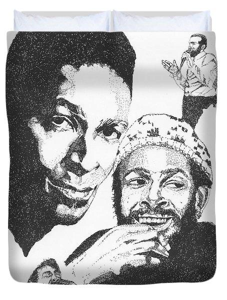 Marvin Gaye Tribute Duvet Cover