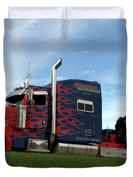 Transformers Optimus Prime Tow Truck Duvet Cover