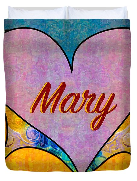 Mary Abstract Greeting Card Artwork By Omaste Witkowski Duvet Cover