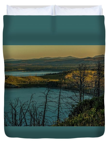 Mary Bay At Dawn Duvet Cover by Yeates Photography