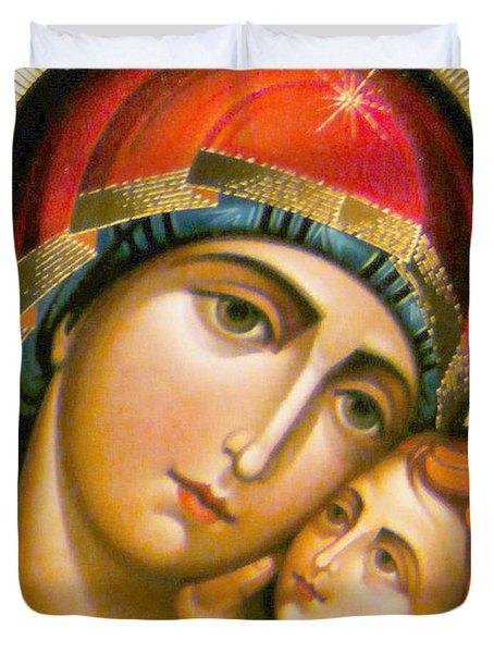 Mary Icon Duvet Cover by Munir Alawi