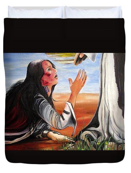 Mary Magdalene Duvet Cover by Mary Ellen Frazee