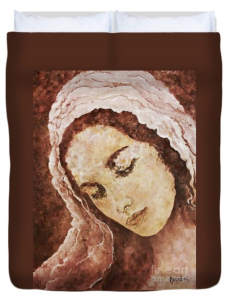 Mary Mother Of Jesus Duvet Cover