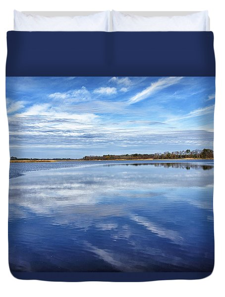 Duvet Cover featuring the photograph Maryland - Blackwater National Wildlife Refuge by Brendan Reals