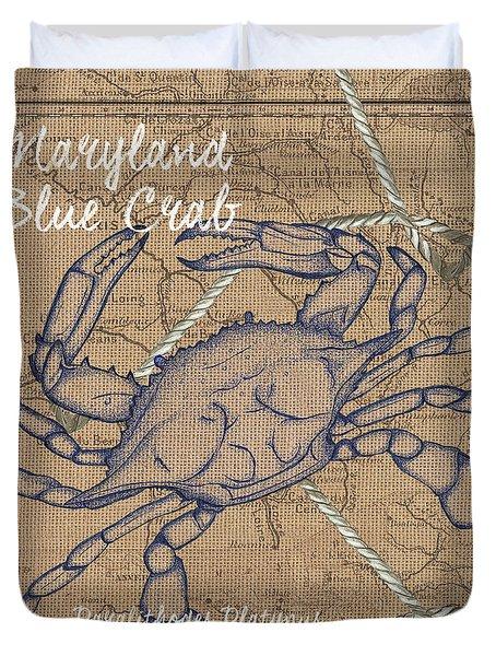 Maryland Blue Crab Duvet Cover