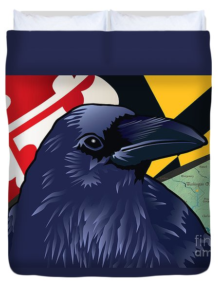 Maryland Citizen Raven Duvet Cover
