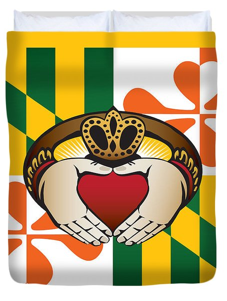 Maryland Irish Claddagh Art Duvet Cover