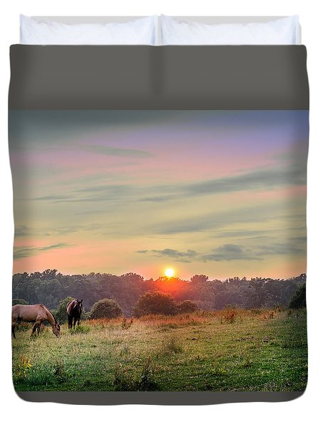 Maryland Pastures Duvet Cover
