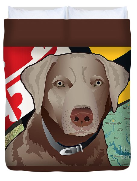 Maryland Silver Lab Duvet Cover