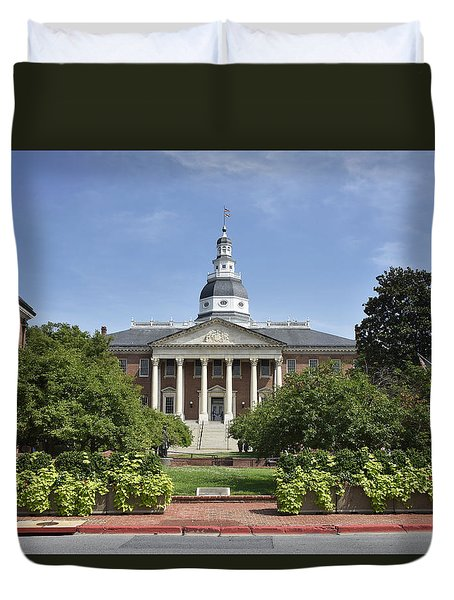 Maryland State House In Annapolis Maryland Duvet Cover