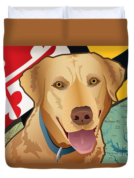 Maryland Yellow Lab Duvet Cover
