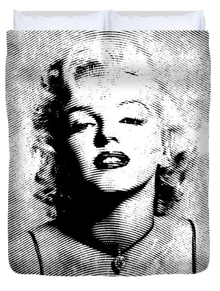 Marilyn Monroe - 04a Duvet Cover by Variance Collections
