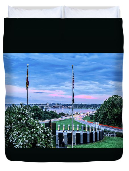 Maryland World War II Memorial Duvet Cover