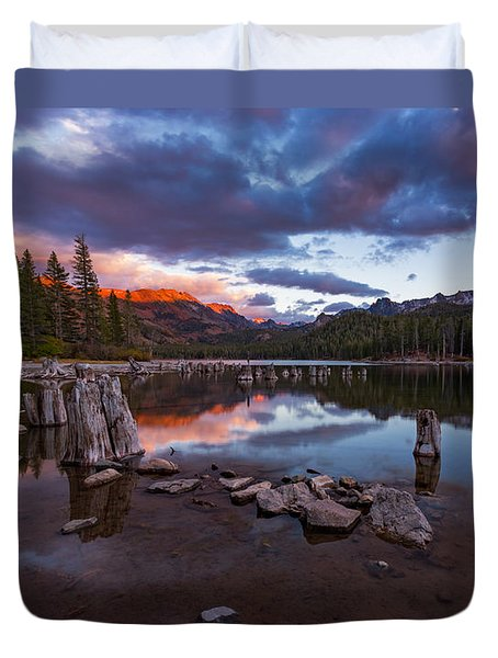 Mary's Reflection Duvet Cover by Tassanee Angiolillo