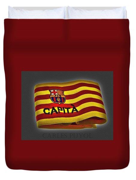 Duvet Cover featuring the photograph Mas Que Un Capitan - Carles Puyol by Juergen Weiss