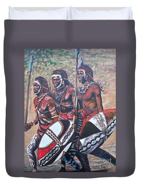 Blaa Kattproduksjoner       Masaai Warriors Duvet Cover
