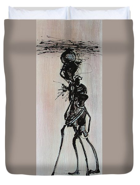 Masai Family - Part 3 Duvet Cover