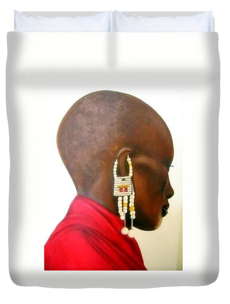 Masai Woman - Original Artwork Duvet Cover