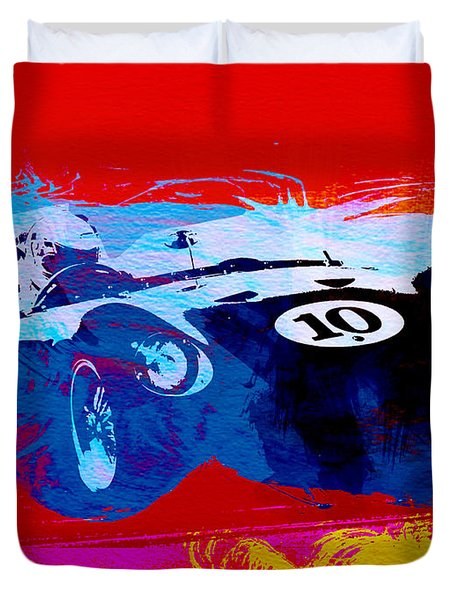 Maserati On The Race Track 1 Duvet Cover
