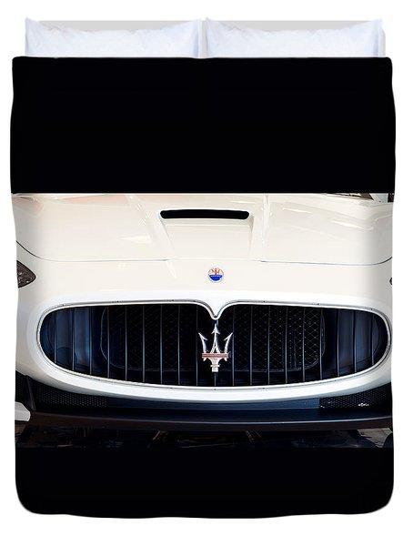 Maserati White Pano 121715 Duvet Cover