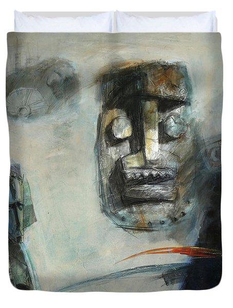 Symbol Mask Painting -02 Duvet Cover