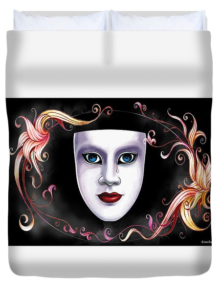 Mask And Vines Duvet Cover