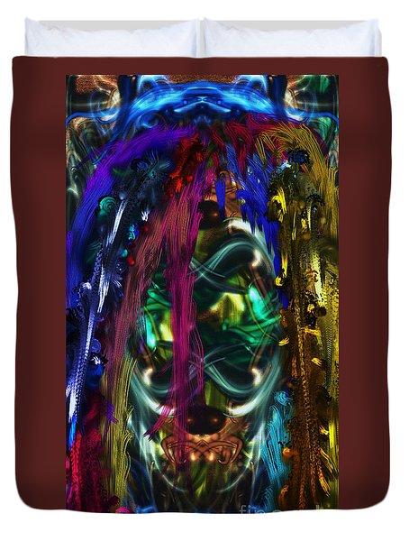 Mask Of The Spirit Guide Duvet Cover