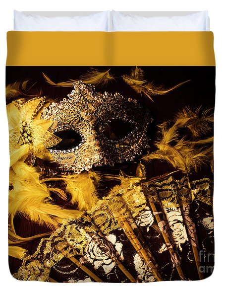 Mask Of Theatre Duvet Cover