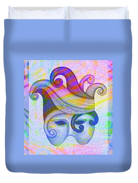 Mask Pacifica Duvet Cover by Nareeta Martin