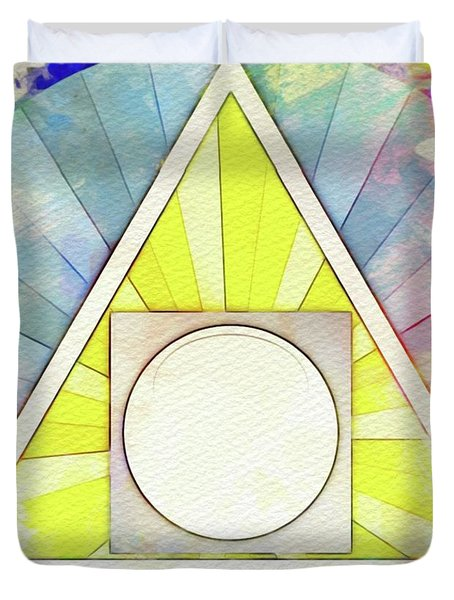Masonic Symbolism - Alchemy Duvet Cover