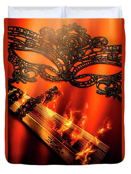 Masquerade Of Passion Duvet Cover