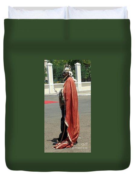 Masquerader Of Sao Tome Duvet Cover