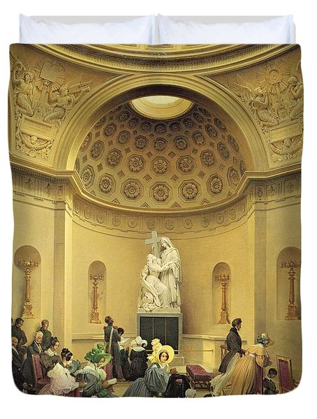 Mass In The Expiatory Chapel Duvet Cover